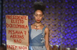 Os looks monocromáticos da primeira fashion week ecológica do Brasil