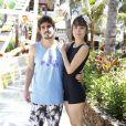 Em julho de 2013, antes de serem flagrados aos beijos, Caio Castro e Maria Casadevall se divertiram juntos em um parque aquático