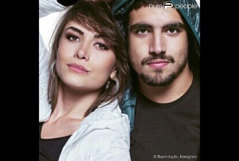 Caio Castro e Maria Casadevall se conheceram durante as gravações da novela 'Amor à Vida', que começou a ser exibida em maio de 2013