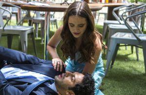 'O Tempo Não Para': Lúcio rejeita beijo roubado de Betina. 'Interesseira'