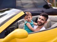 Gusttavo Lima filma filho fazendo pirraça para não sair do carro: 'Gosta demais'