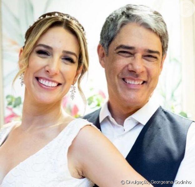William Bonner e Natasha Dantas se casaram pela segunda vez no Rio de Janeiro