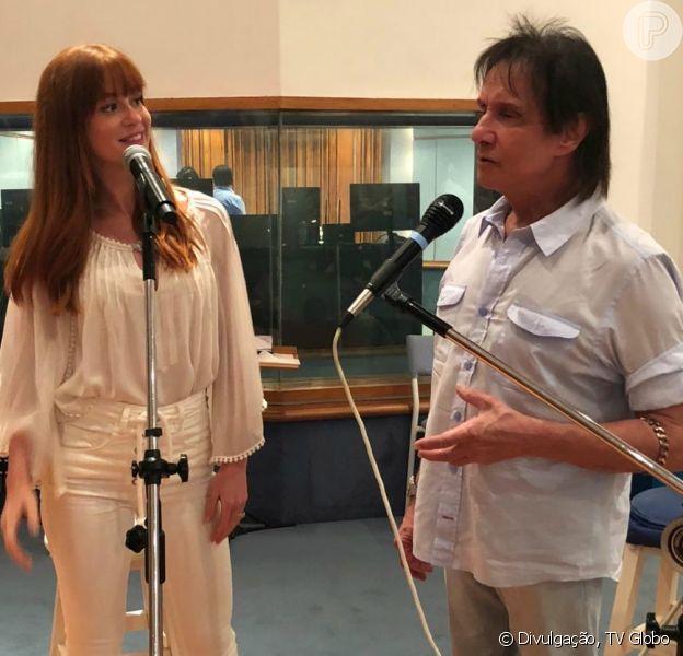 Marina Ruy Barbosa ensaiou com Roberto Carlos em estúdio no Rio de Janeiro nesta quinta-feira, 29 de novembro de 2018