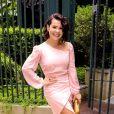 Assim como as outras daminhas e a noiva, Fernanda Souza usou um look assinado por Lethicia Bronstein