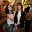As gêmeas Giselle e Michelle Baptista também se caracterizaram para o evento beneficente
