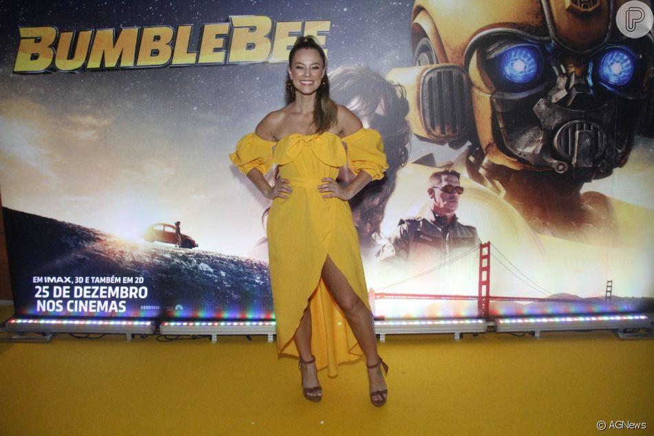 Paolla Oliveira prestigiou a  pré-estreia do filme 'Bumblebee', no shopping New York City Center, na zona oeste do Rio, neste domingo, 16 de dezembro de 2018