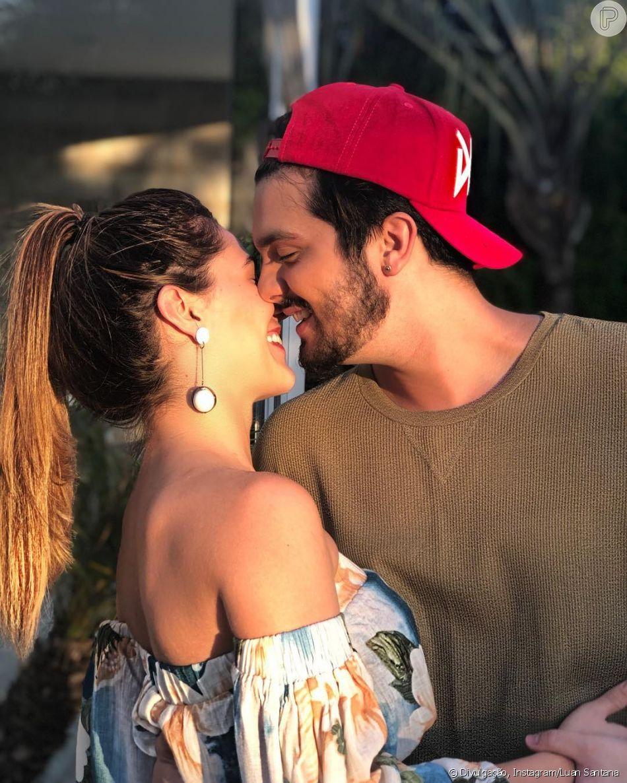 e41695236790c Luan Santana posta foto romântica com namorada, Jade Magalhães, nesta  sexta-feira,