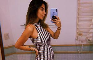 Grávida, Gabi Brandt posa de vestido justo e mostra evolução da barriga. Fotos!