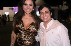 Thammy Miranda vai com a namorada a festival de música com show de Gusttavo Lima