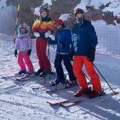 Férias com os filhos! Angélica esquia com Joaquim, Eva e Benício: 'Meu grupo'
