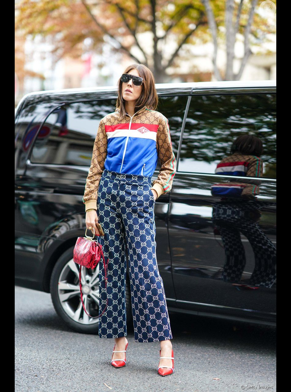 87e0846baaa37e Logomania é tendência na moda: conjuntinho Gucci - Purepeople