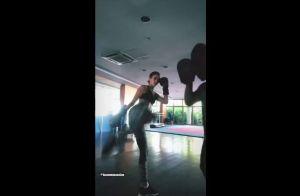 Girl power! Bruna Marquezine mostra força em treino com chutes em série. Vídeo!