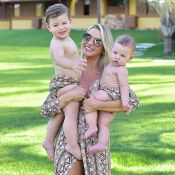 Puro estilo! Andressa Suita combina look com filhos, Gabriel e Samuel: 'Feliz'