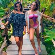 Anitta encontrou Paula Fernandes no México e sertaneja postou foto ao lado da cantora