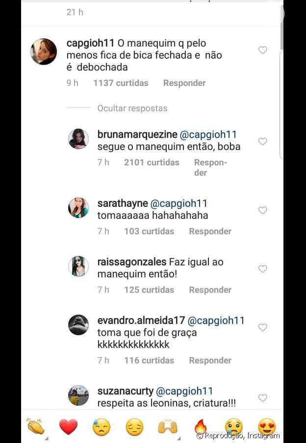 Bruna Marquezine ironiza alfinetada de internauta