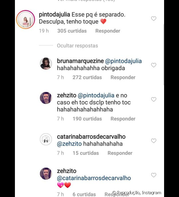 Bruna responde fã sobre erro de português
