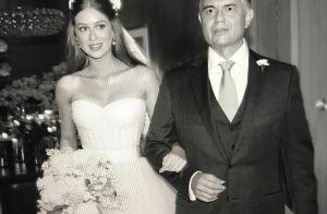 Marina Ruy Barbosa usa foto vestida de noiva ao parabenizar o pai: 'Meu fã'