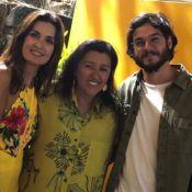 Fátima Bernandes usa look floral vibrante em passeio com namorado, Túlio Gadêlha