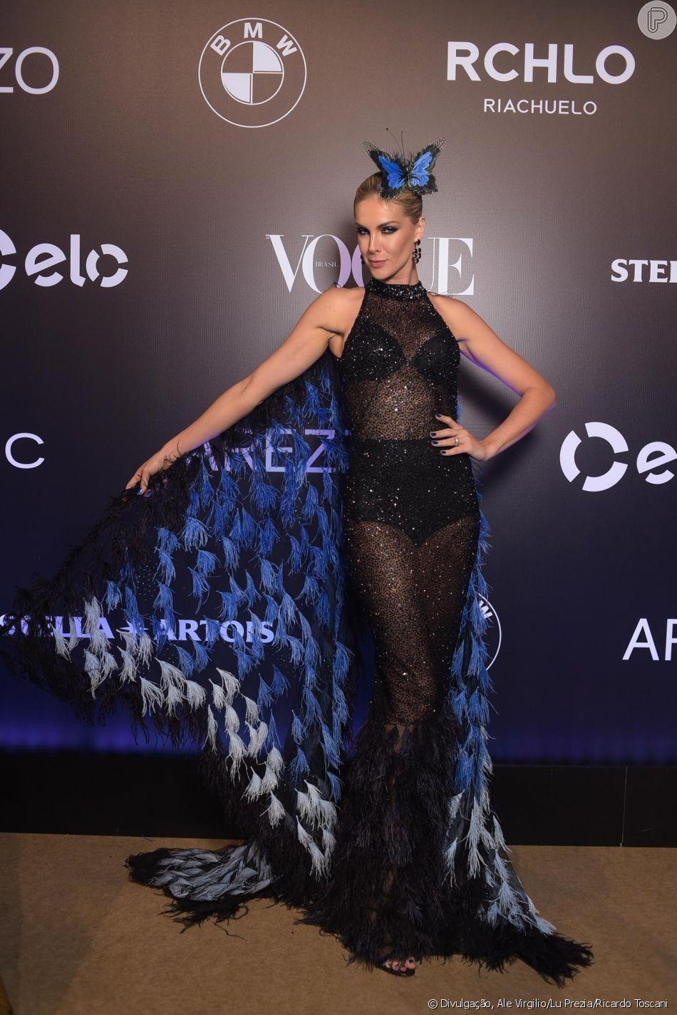 Ana Hickmann estava a verdadeira borboleta no Baile da Vogue de 2018. Sua  roupa foi uma criação da estilista Letícia Marzan. ea0f909da0