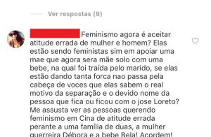 Fã comenta separação de Débora Nascimento, aprova apoio de famosas e atriz curte