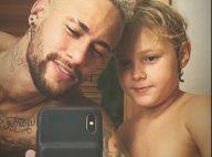Filho de Neymar, Davi Lucca grava o pai treinando e se diverte: 'Mais rápido'