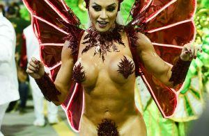 Rainha do fogo! Juju Salimeni cai no samba só de tapa-sexo em desfile da X-9