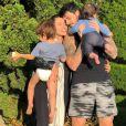 Adriana Sant'Anna e Rodrigão são pais de um casal, Rodrigo, 2 anos, e Linda, 11 meses