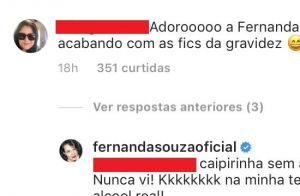 Fernanda Souza afasta rumor de gravidez em festa de Thiaguinho: 'Caipirinha'