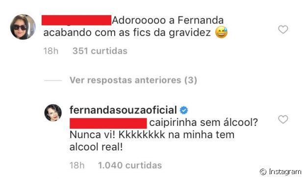 Fernanda Souza afasta rumor de gravidez