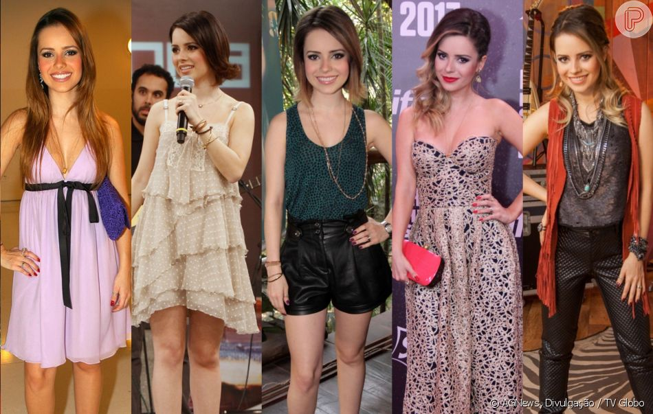b1b235a91e Moda dos famosos  confira 100 fotos da evolução fashion dos looks da Sandy