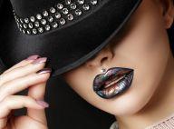 Pigmento metalizado na boca como batom é a aposta na make das mais moderninhas