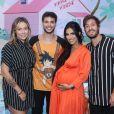 Grávida, Carol Dantas prestigia chá de bebê de Zion, filho de Jade Seba e Bruno Guedes, na Barra da Tijuca, neste sábado, 30 de março de 2019