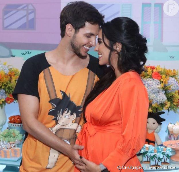 Grávida de Zion, Jade Seba faz chá de bebê com tema Dragon Ball: 'BabyZ'