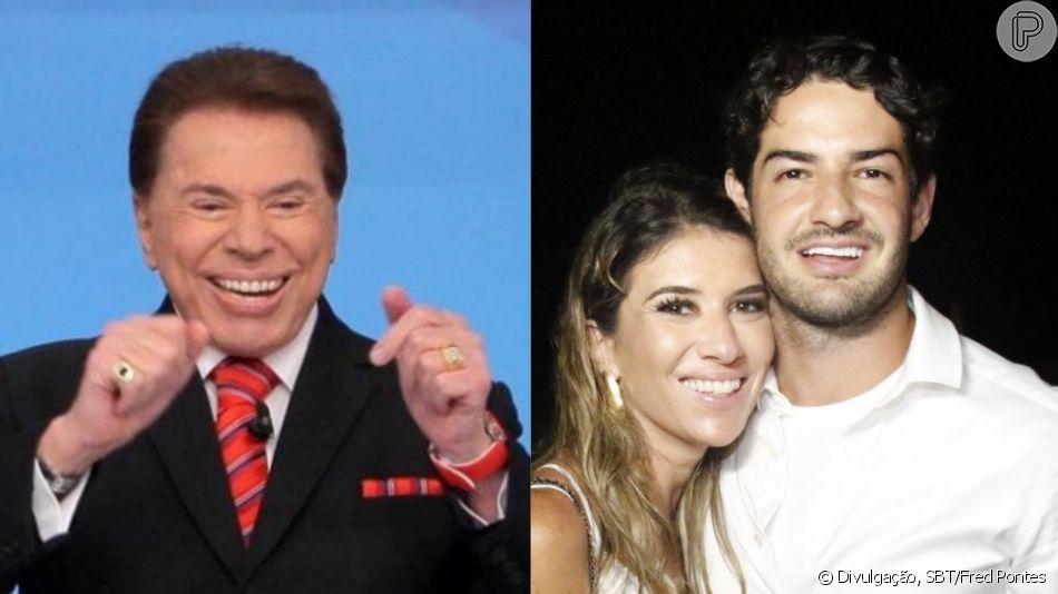 Alexandre Pato agradou Silvio Santos ao conhecer o apresentador, pai de sua namorada, Rebeca Abravanel