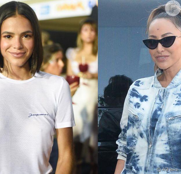 Bruna Marquezine elogia look de Sabrina Sato e 'pede' óculos de sol emprestado para apresentadora nesta quinta-feira, dia 04 de abril de 2019