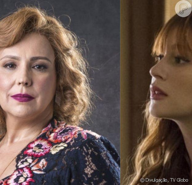 Na novela 'O Sétimo Guardião', Luz (Marina Ruy Barbosa) chora ao descobrir ser a filha perdida de Ondina (Ana Beatriz Nogueira): 'Acabei de ganhar minha mãe de volta'