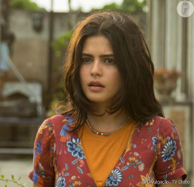 Na novela 'Órfãos da Terra', Laila (Julia Dalavia) vai ser expulsa de casa depois de contar para o pai, Elias (Marco Ricca), que está grávida.