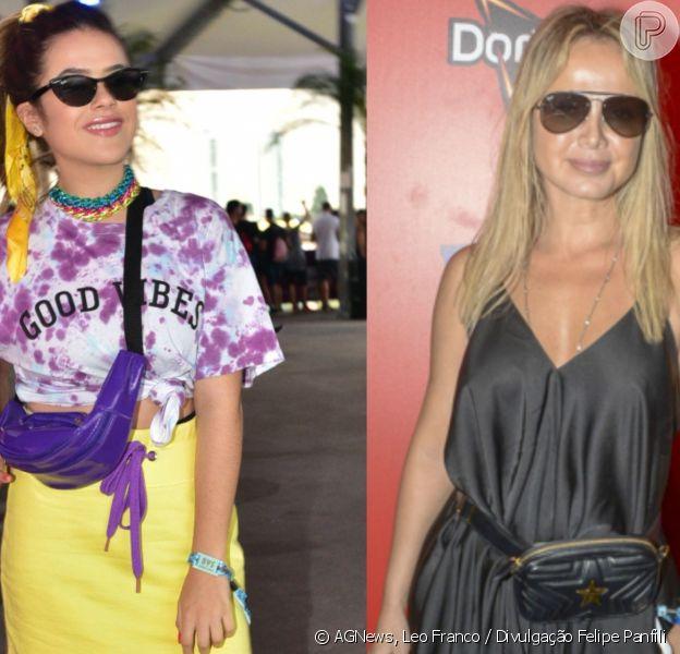 Eliana e Maisa Silva se encontraram no Lollapalooza deste sábado, 6 de abril de 2019