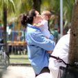 Daniella Sarahyba encheu sua filha caçula de beijos