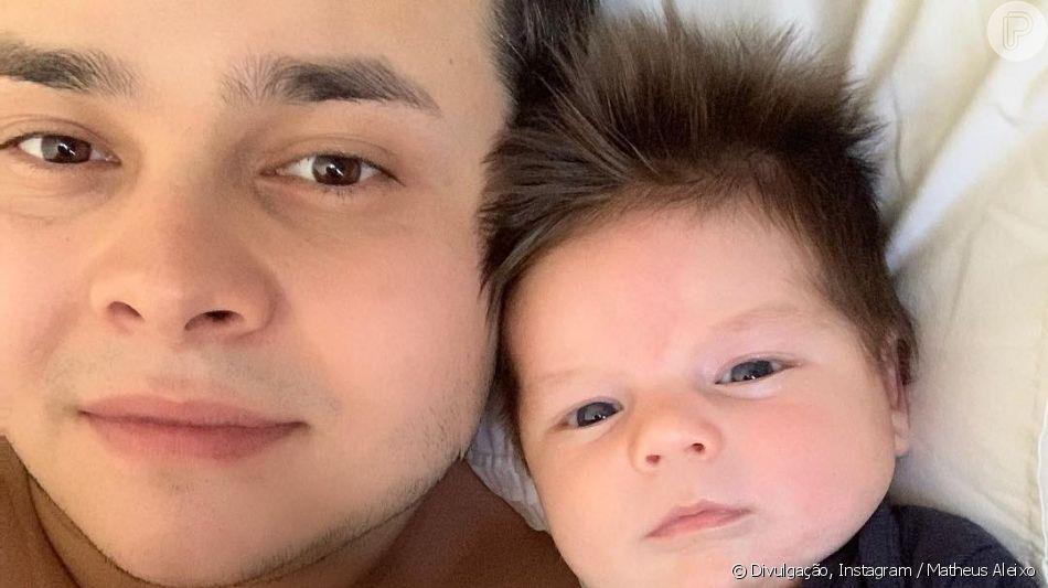 Matheus, da dupla com Kauan, postou foto com filho caçula, João Pedro, nesta quinta-feira, 11 de abril de 2019