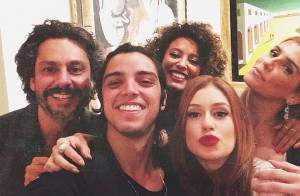 Marina Ruy Barbosa e Alexandre Nero curtem festa ao lado de Deborah Secco no Rio