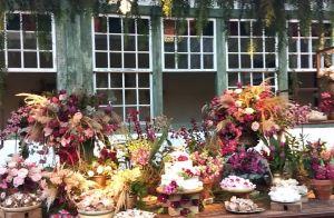 Casamento de Cauã Reymond e Mari Goldfarb tem decoração repleta de flores. Fotos