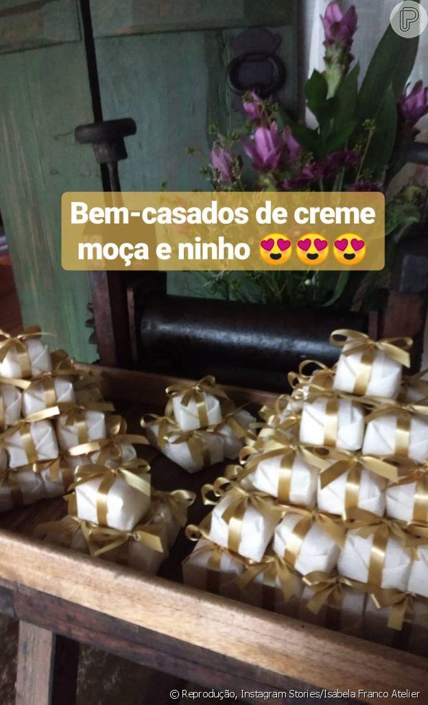 Os bem-casados escolhidos por Cauã Reymond e Mariana Goldfarb foram de sabor especial