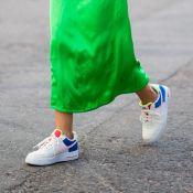 Tênis de corrida e dad sneakers formam looks estilosos no outono/inverno
