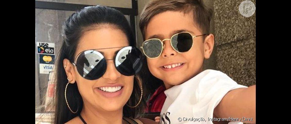 Filho de Simone, Henry vai a festinha com look Gucci de R$2,8 mil nesta quarta-feira, dia 17 de abril de 2019