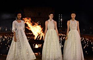 Vestidos esvoaçantes e muita estampa no desfile da Dior em homenagem à África