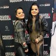Maiara e Maraisa combina looks com blazer para show em Campo Grande, no Mato Grosso do Sul