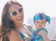 Sabrina Sato combina estampa de look praia com a filha, Zoe: 'Coladinhas'