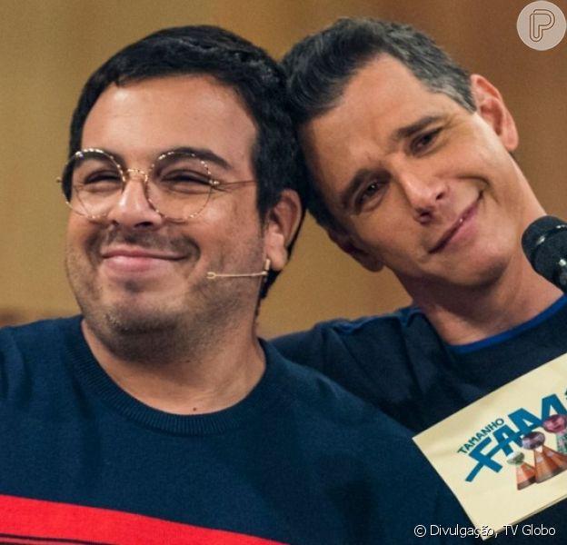 Marcio Garcia defendeu Luis Lobianco após crítica de telespectador por beijo do ator no marido: 'Paz, amor, tolerânica'