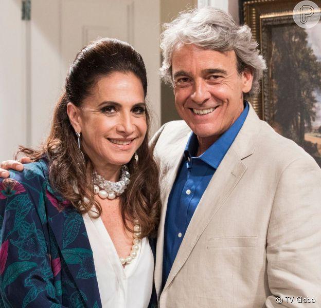 Mercedes (Totia Meireles) pegará todo o dinheiro de Quinzão (Alexandre Borges) na novela 'Verão 90'
